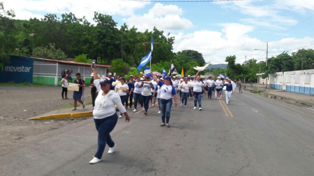 La marcha de mujeres que corrió a las turbas orteguistas. Foto: Cortesía.