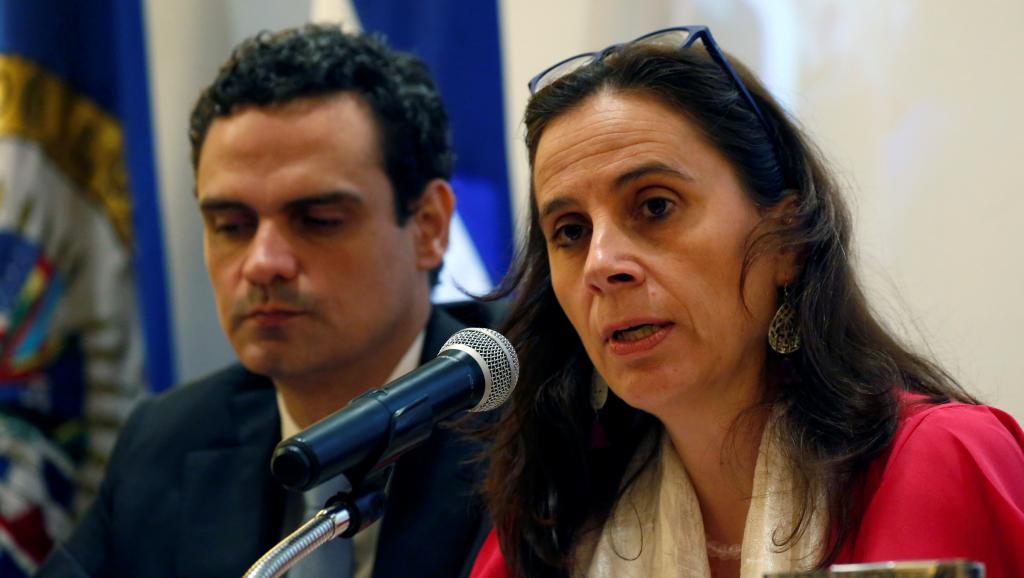 Comisionada Antonia Urrejola, Relatora de la CIDH para Nicaragua y Paulo Abrão, Secretario Ejecutivo de la CIDH.