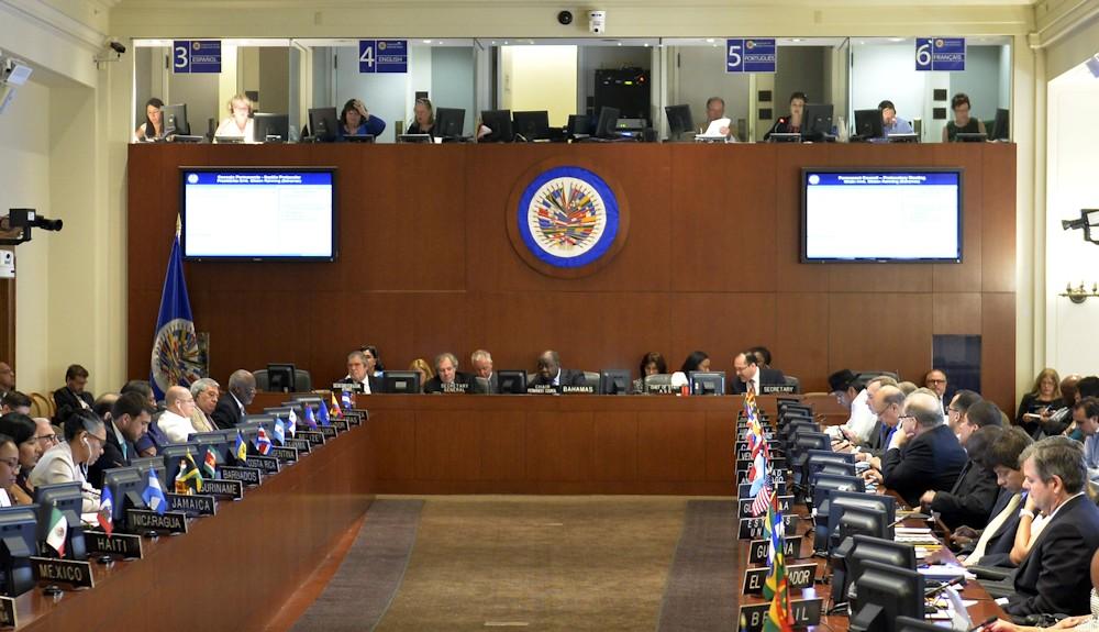 El grupo de trabajo de la CIDH presenta su informe ante el Consejo Permanente de la OEA. Foto: tomada de LibertadDigital