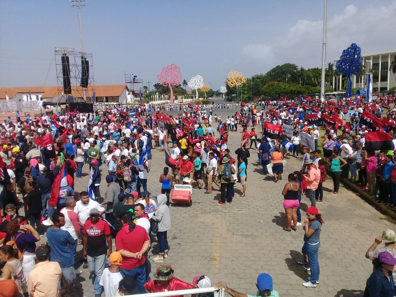 Poca cantidad de seguidores de Ortega en comparación con otros años. Foto/Artículo66