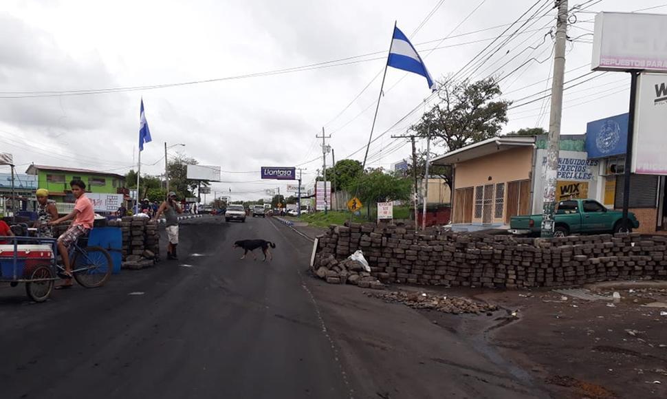 Tranques en Juigalpa. Foto: M. Sequeira/El Nuevo Diario