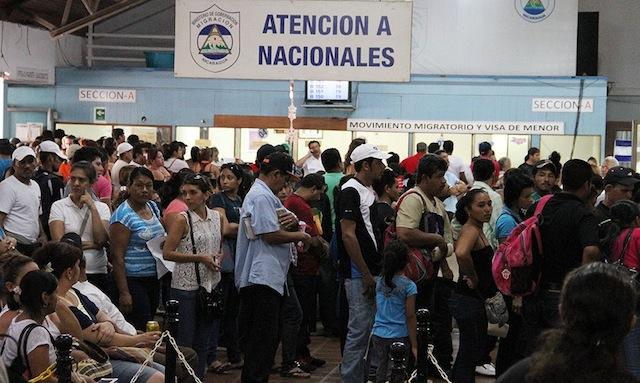 Automento del flujo migratorio de nicas hacia Costa Rica. Foto: Metro
