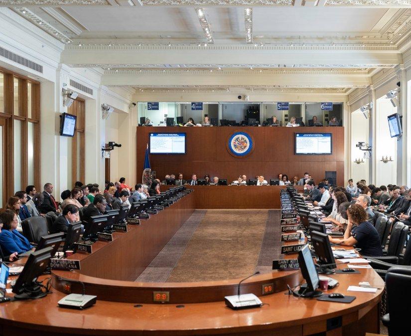 Consejo Permanente de la OEA analiza la crisis de Nicaragua en sesión extraordinaria a petición de cinco países. Foto: OEA