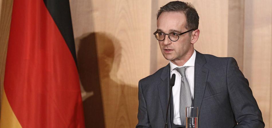 Heiko Maas Ministro del Departamento de Exteriores alemán.