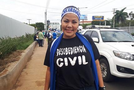 Irlanda Jerez llama a seguir «luchando» y «resistiendo» por la libertad y justicia de Nicaragua. Foto: Cortesía