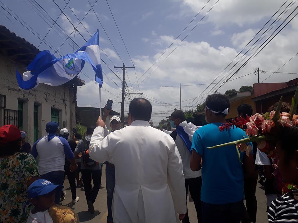 Ayer realizaron un Masaya una marcha en memoria de las victimas.