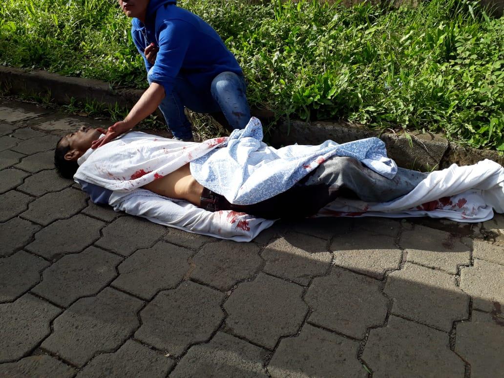 Esta es una de las víctimas de los ataques de paramilitares en Diriamba. Foto:LaPrensa