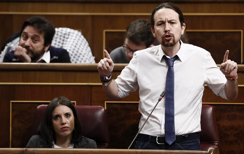 El líder de Podemos, Pablo Iglesias. Foto: EFE