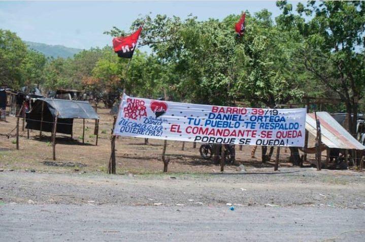Sandinistas tomas tierras bautizan los terrenos invadidos. Foto: LA PRENSA