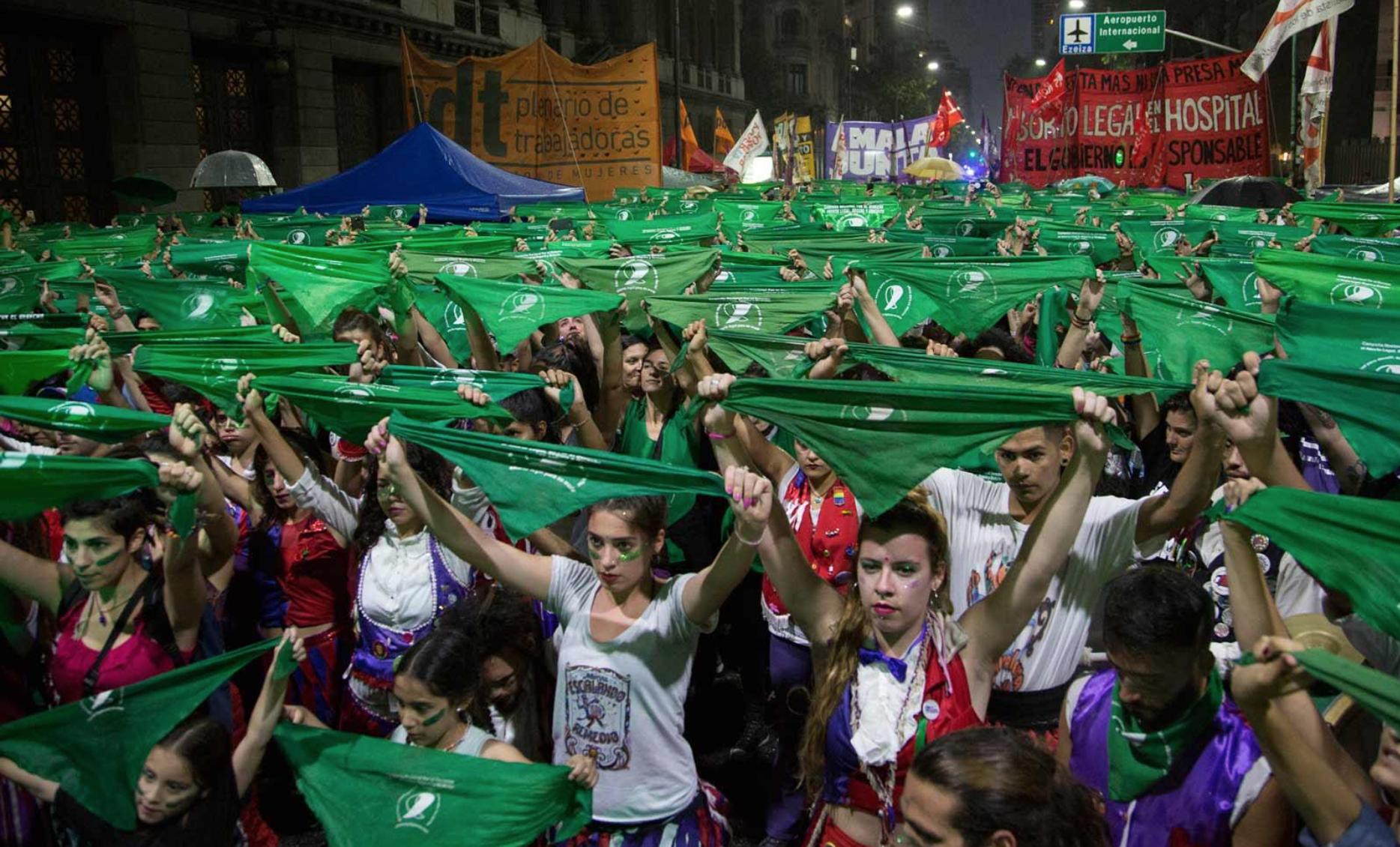Marea verde en Argentina en pro de la legalización del aborto. Foto: Cortesía