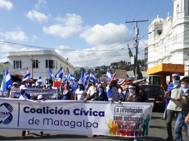 Manifestación pacífica de Matagalpa fue atacada por paramilitares. Foto: Diario Metro