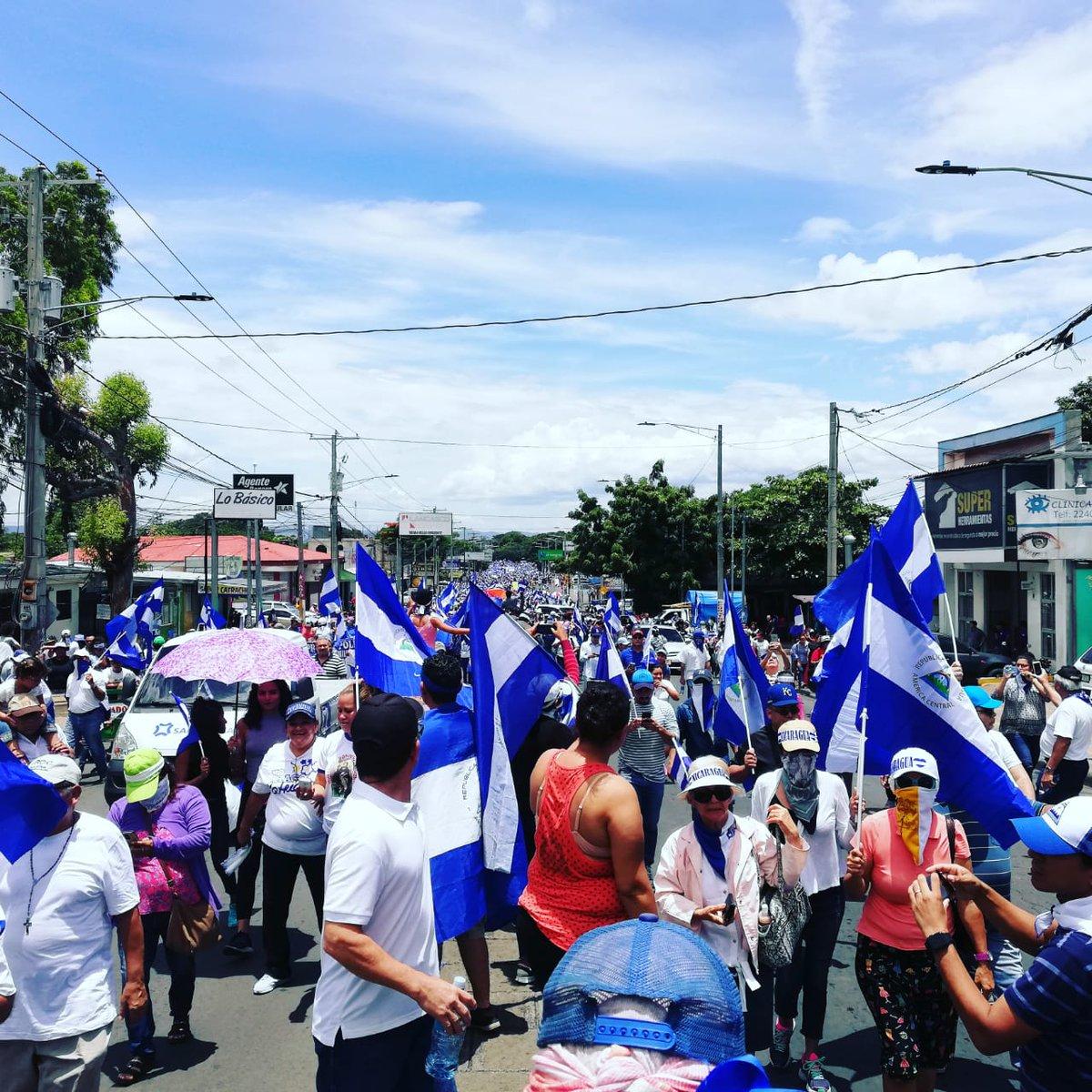Marcha por los presos políticos llena las calles de Managua. Foto/Artículo66