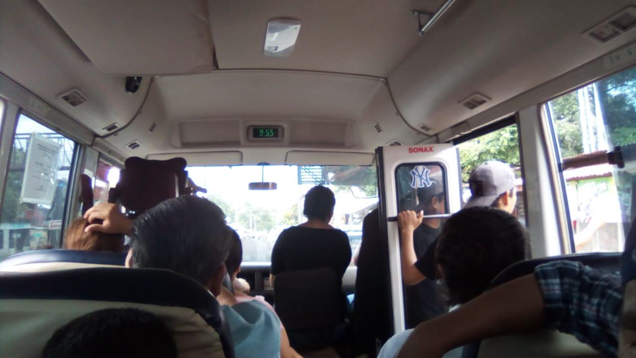 Incremento ilegal del pasaje en interlocales de Managua a Masaya y León. Foto: N. Pérez / Artículo 66