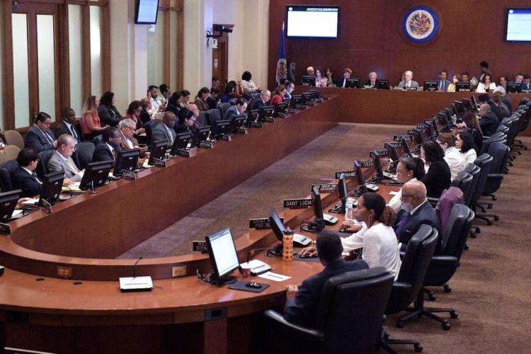 Consejo Permanente de la OEA. Foto/EFE