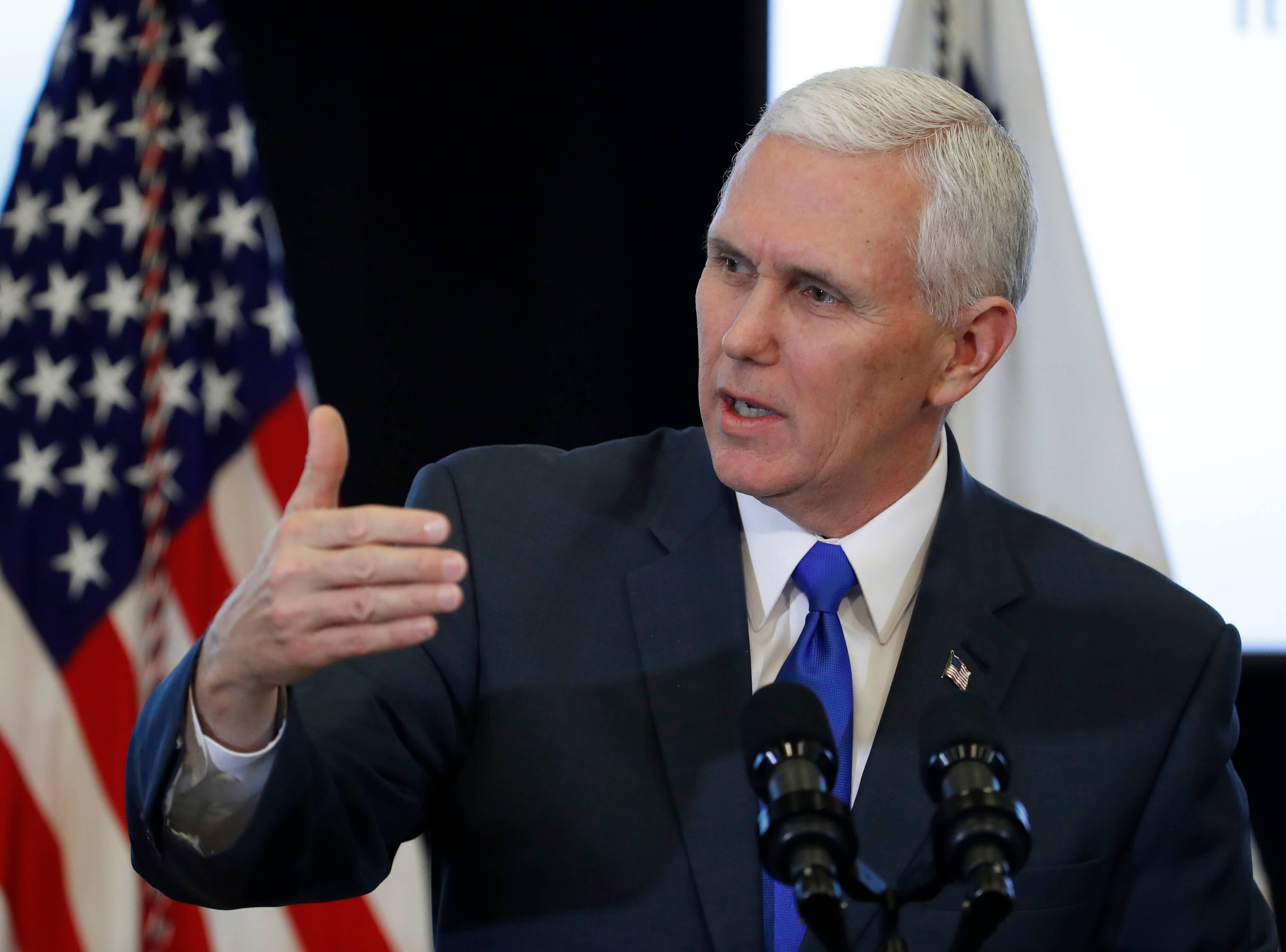 Vicepresidente de los Estados Unidos, Mike Pence. Foto: Noticiero Televisa