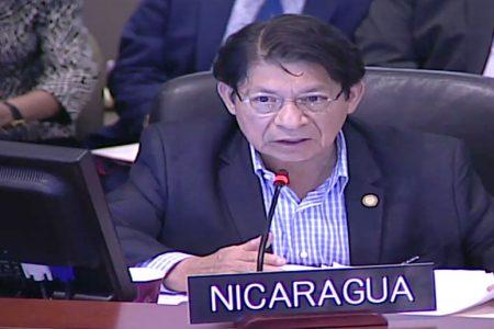 Denis Moncada Colindres, el canciller de Ortega intentando boicotear las sesiones en el Consejo Permanente de la OEA
