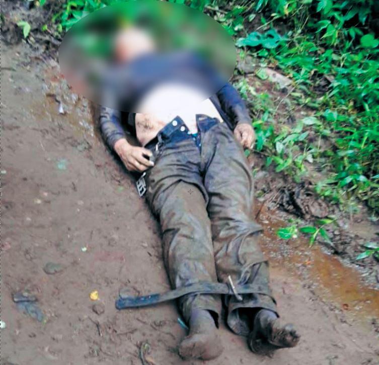 La Policía Nacional confirmó la muerte del capitán César Blandón Urrutia. Foto/Cortesía