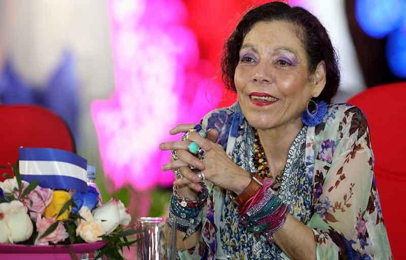 """Rosario Murillo, vicepresidenta de Nicaragua, reclama """"derechos humanos para todos"""" los nicararagüenses. Foto tomada de Internet."""