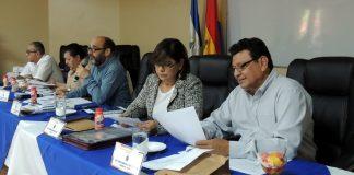 Autoridades de la UNAN-Managua se mantienen ilegalmente en sus cargos que no pudieron reelegir por la toma del recinto. Foto: Tomada de la UNAN.