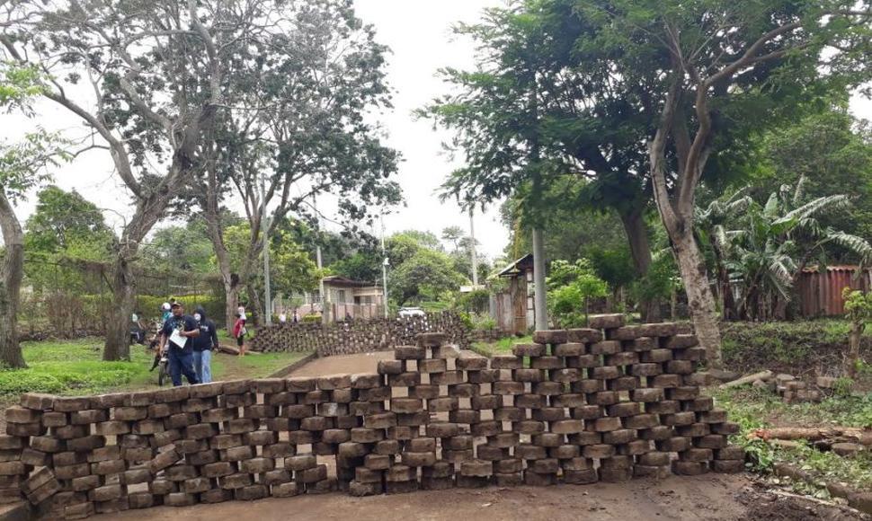 Población levantó tranques en toda Diriamba, Carazo. Foto: El Nuevo Diario