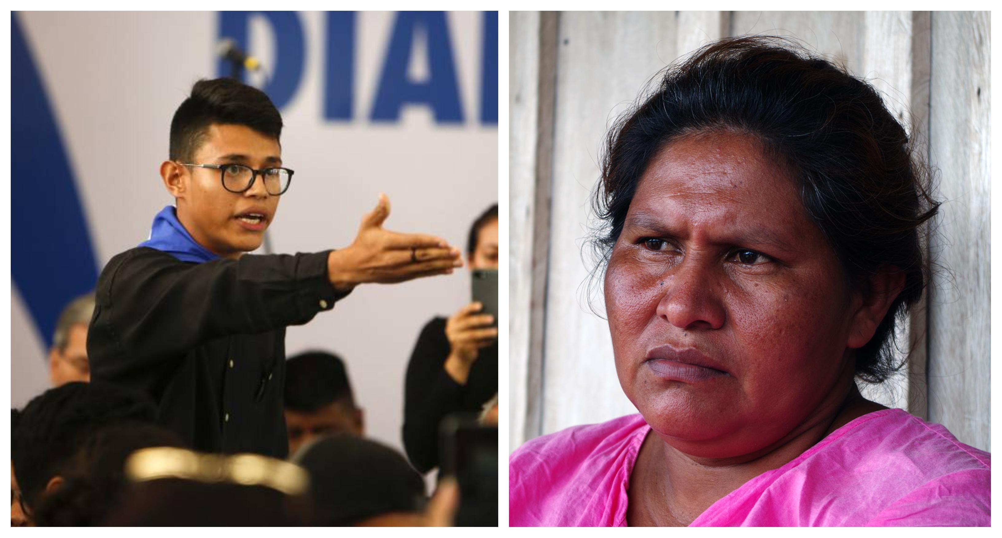 Francisca Ramírez y Lesther Alemán lograron escapar de las garras de la dictadura
