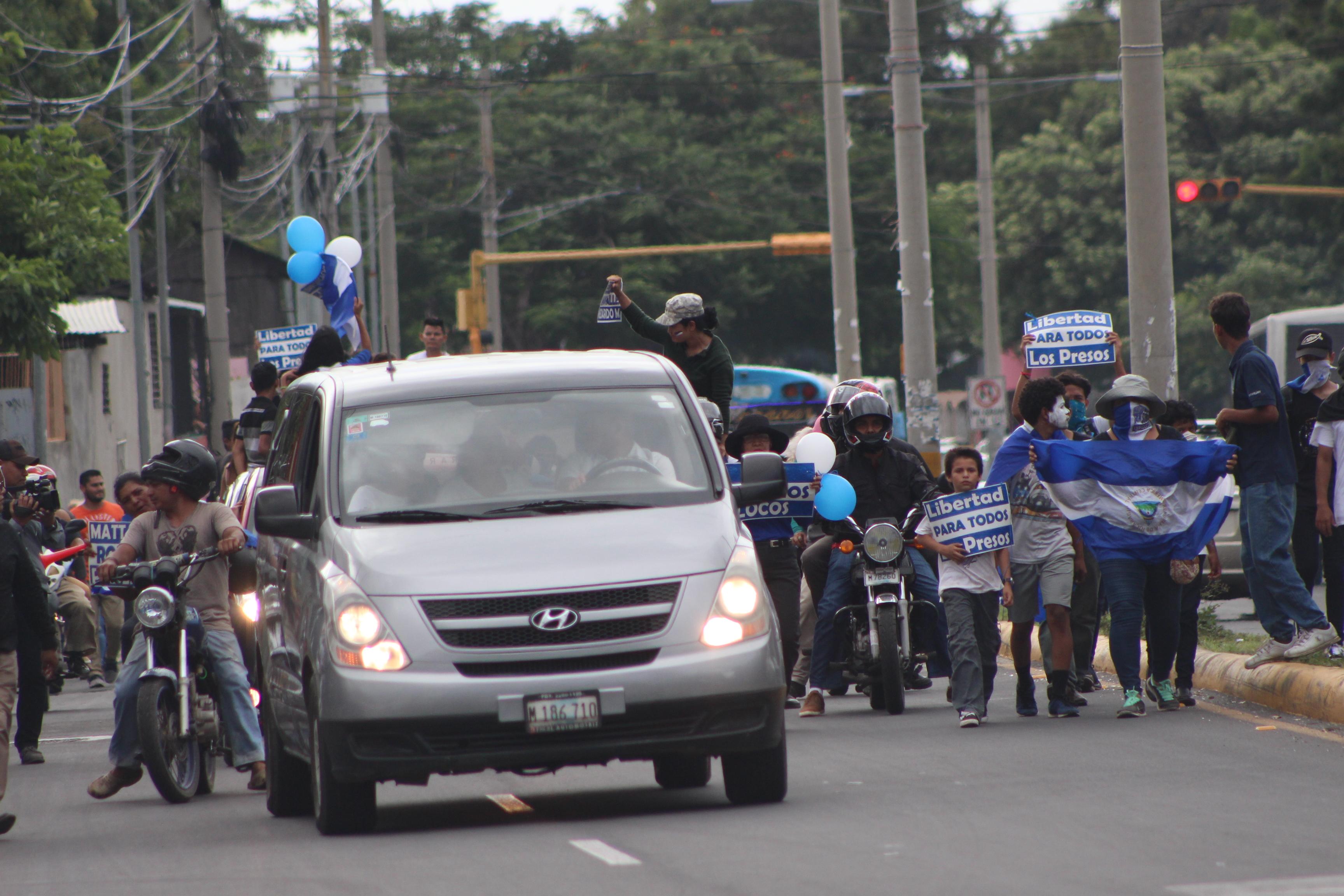 Cuerpo del joven recorrió las calles de Managua. Foto/Artículo66
