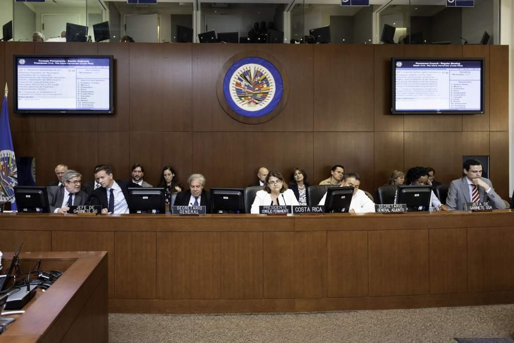 Consejo Permanente de la OEA. Foto: La Prensa HN