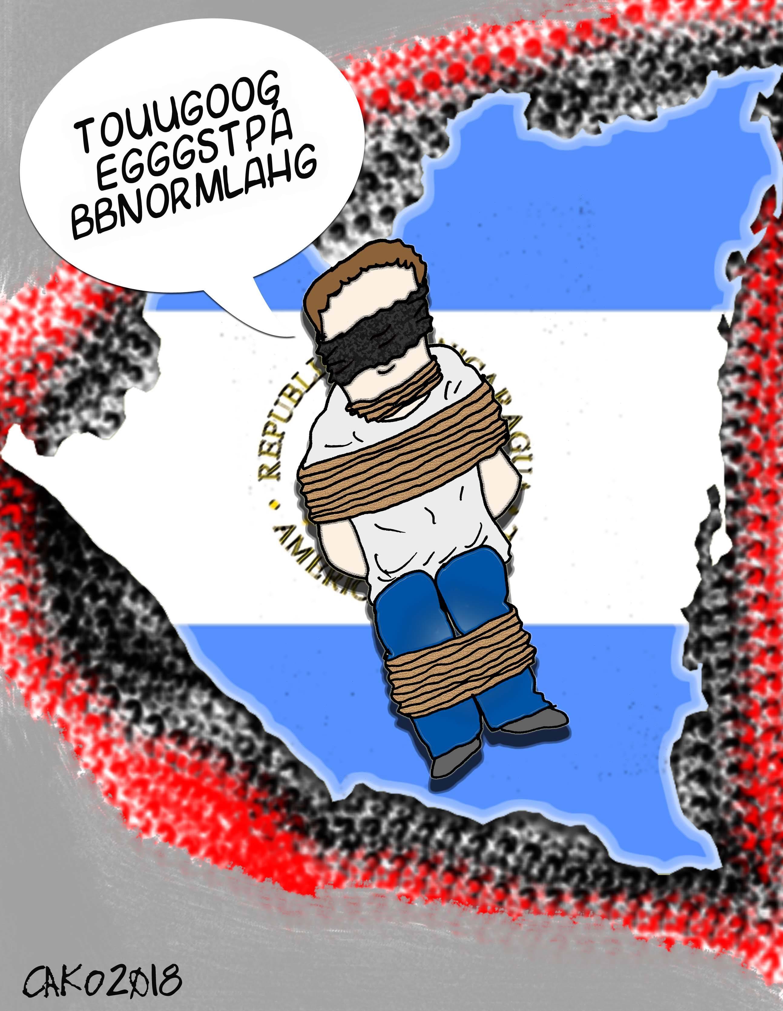 La Caricatura: Con presos, secuestros, encapuchados y matones en Hilux, pero todo está normal