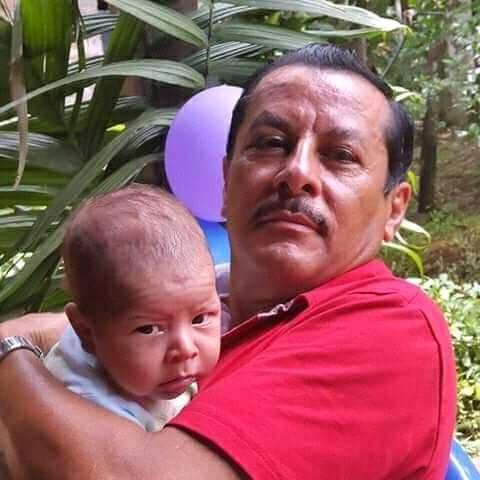 Alfonso Morazán Castillo, de 57 años, padre del activista Yaser Morazán.
