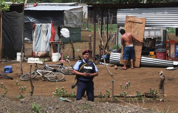 La dictadura de Ortega sigue recetando desalojo a sus tomatierras. Foto/O.Sachez