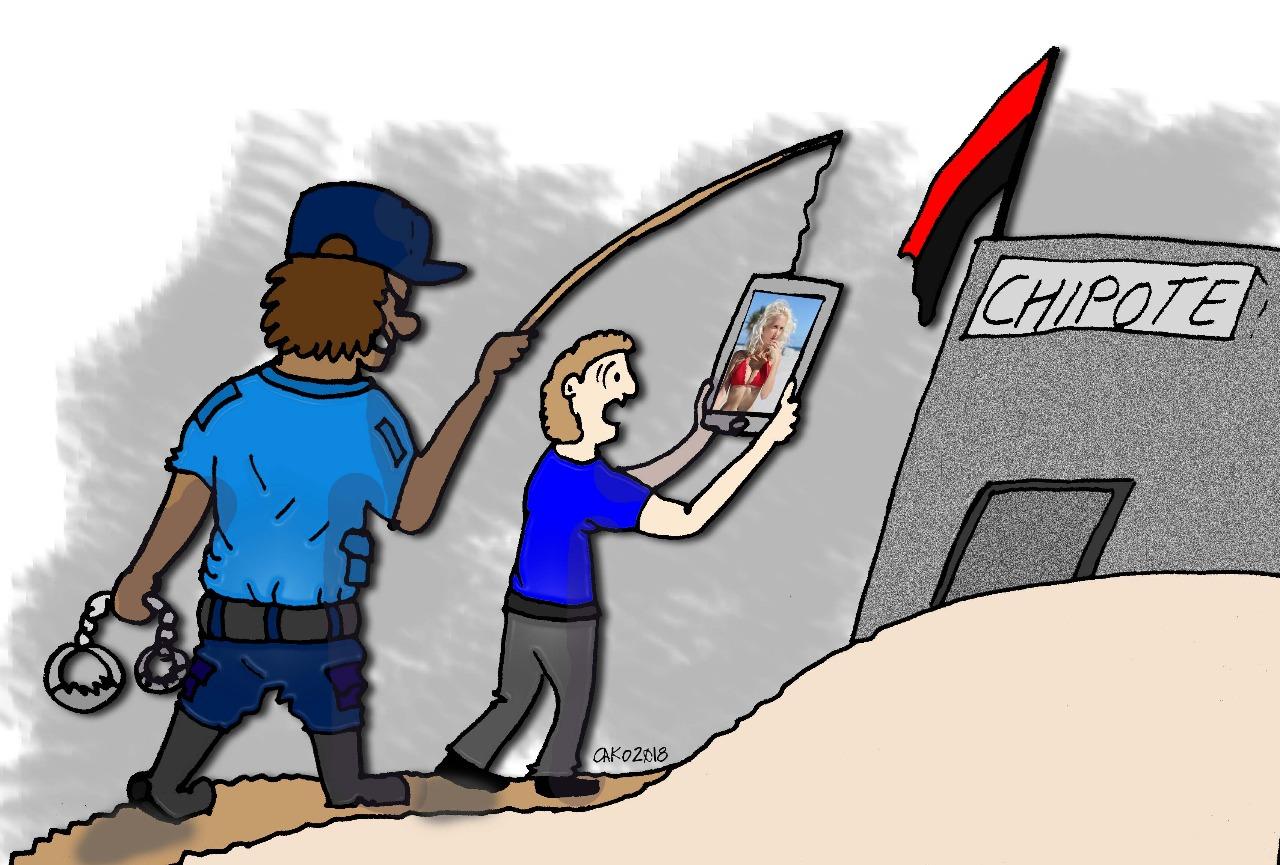 La caricatura del día, así quiere cazar jóvenes la dictadura