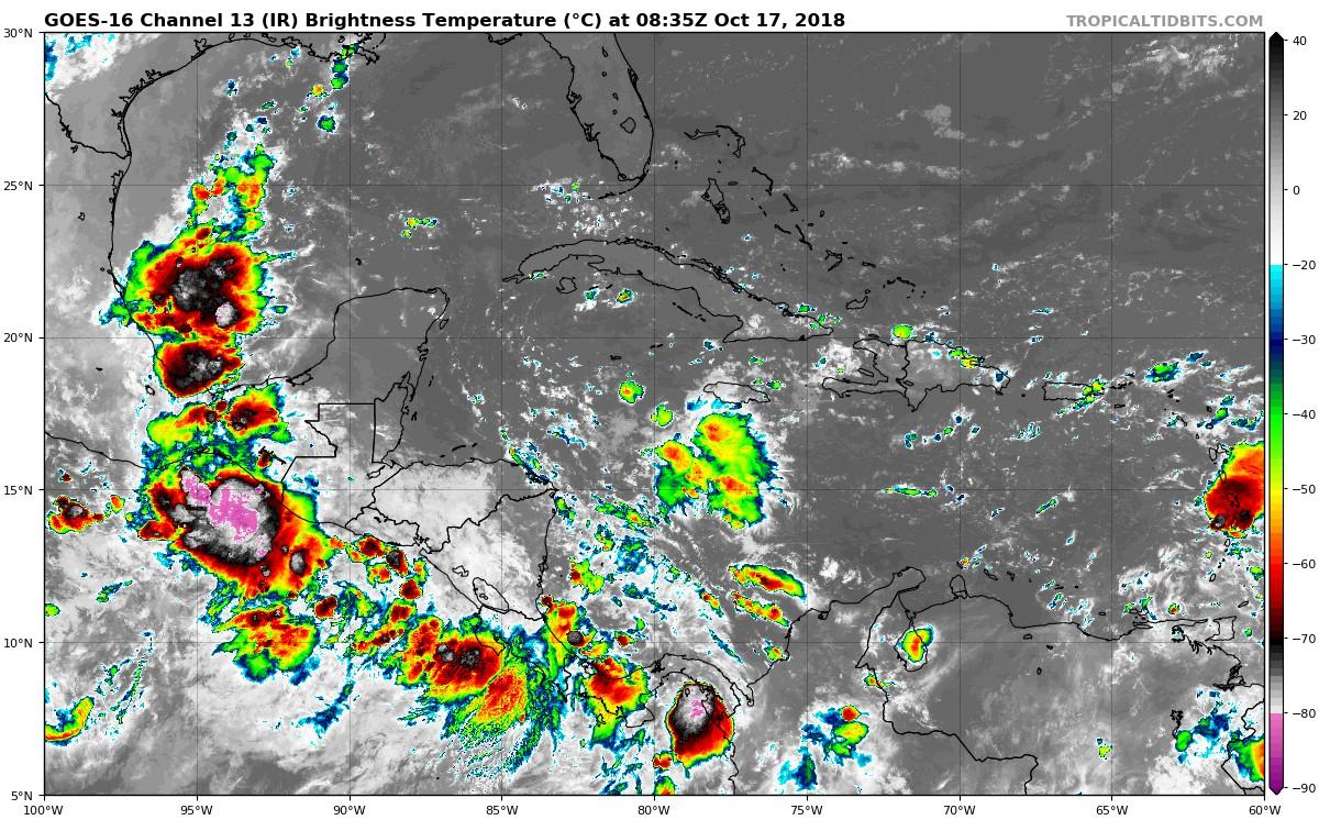 Lluvias que caen sobre Nicaragua tienen 90% de probabilidades de volverse ciclón