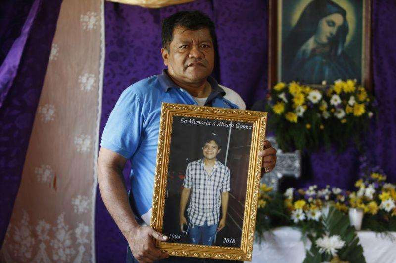 Álvaro Gómez, el exguerrillero sandinista que tuvo que exiliarse en Costa Rica, tras el asesinato de su hijo. Foto: END