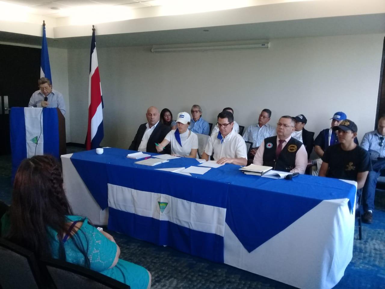 Constituyen la Unión Nicaragüense de Exiliados en Costa Rica para continuar la resistencia contra la dictadura. Foto: J. Garay / Artículo 66