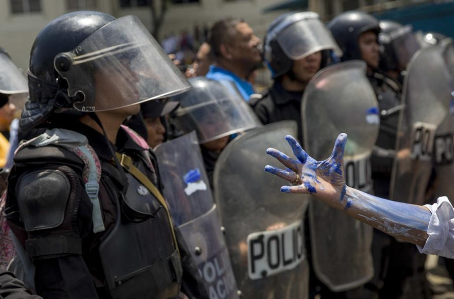Policía orteguista prohíbe marcha azul y blanco a realizarse este domingo. Foto/END
