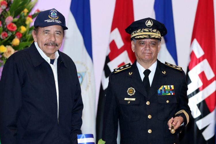 Policía orteguista niega permiso para movilización de Unidad Nacional Azul y Blanco. Foto/LaPrensa