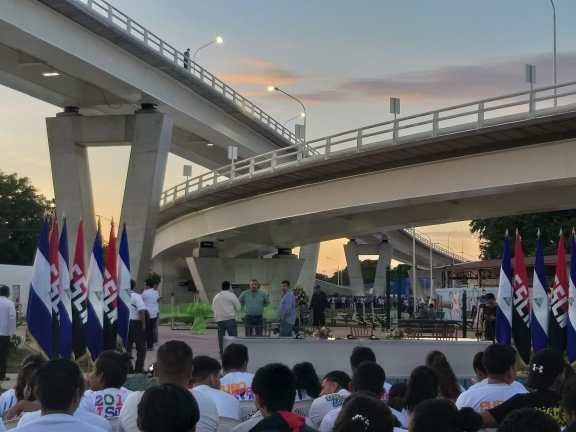 Inauguración paso a desnivel Las Piedrecitas. Foto: Cortesía.