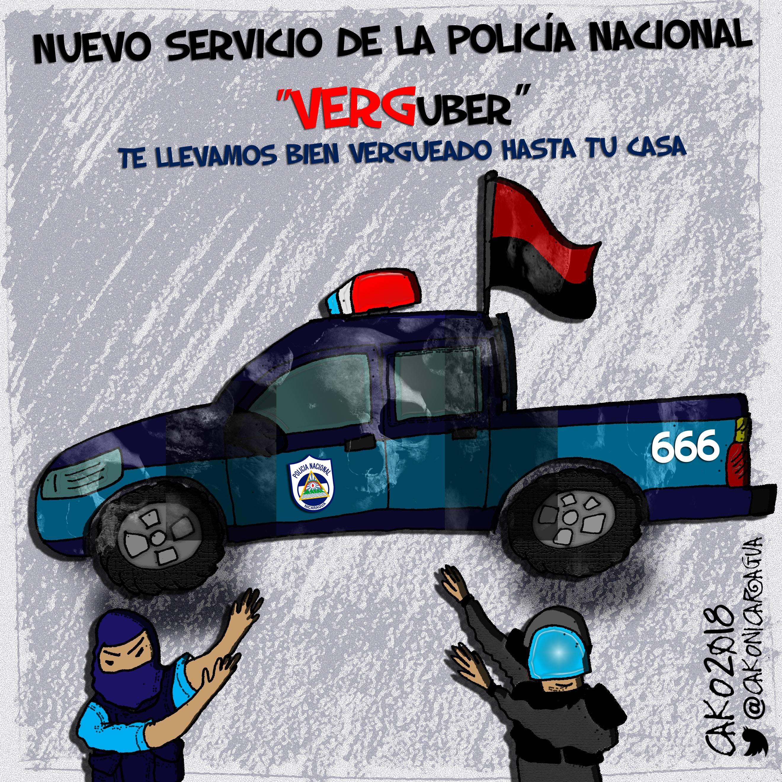 La Polichía NAZIonal ahora te detiene, te golpea y te va a dejar a tus casa. CaKo/Articulo66