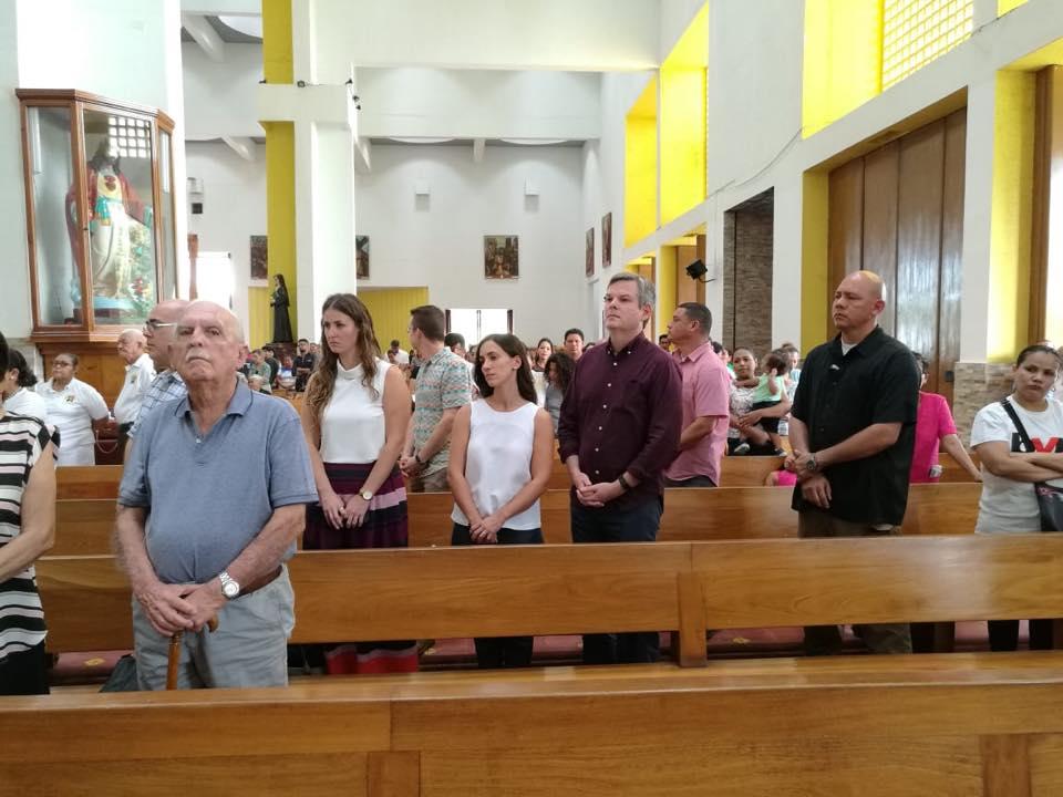 Kevin Sullivan, embajador de EE. UU. en Nicaragua, en la misa de este domingo, 18 de noviembre. Foto: Café Con Voz