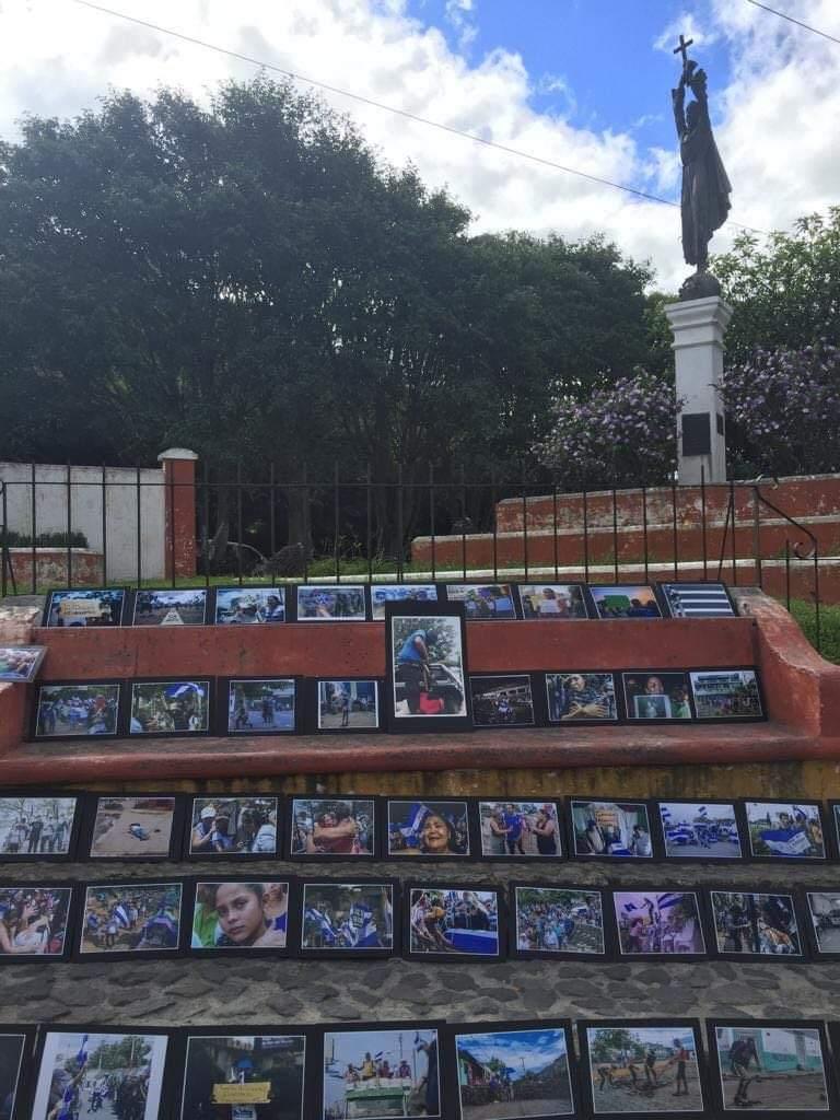 Fotografías de la represión del orteguismo en Guatemala. Foto/Cortesía