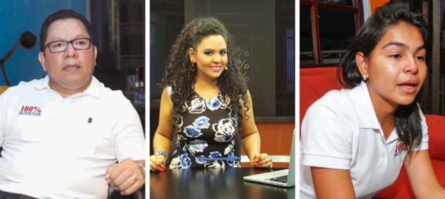 CIDH otorga medidas cautelares a los periodistas Miguel Mora, Verónica Chávez y Leticia Gaitán, de 100% Noticias