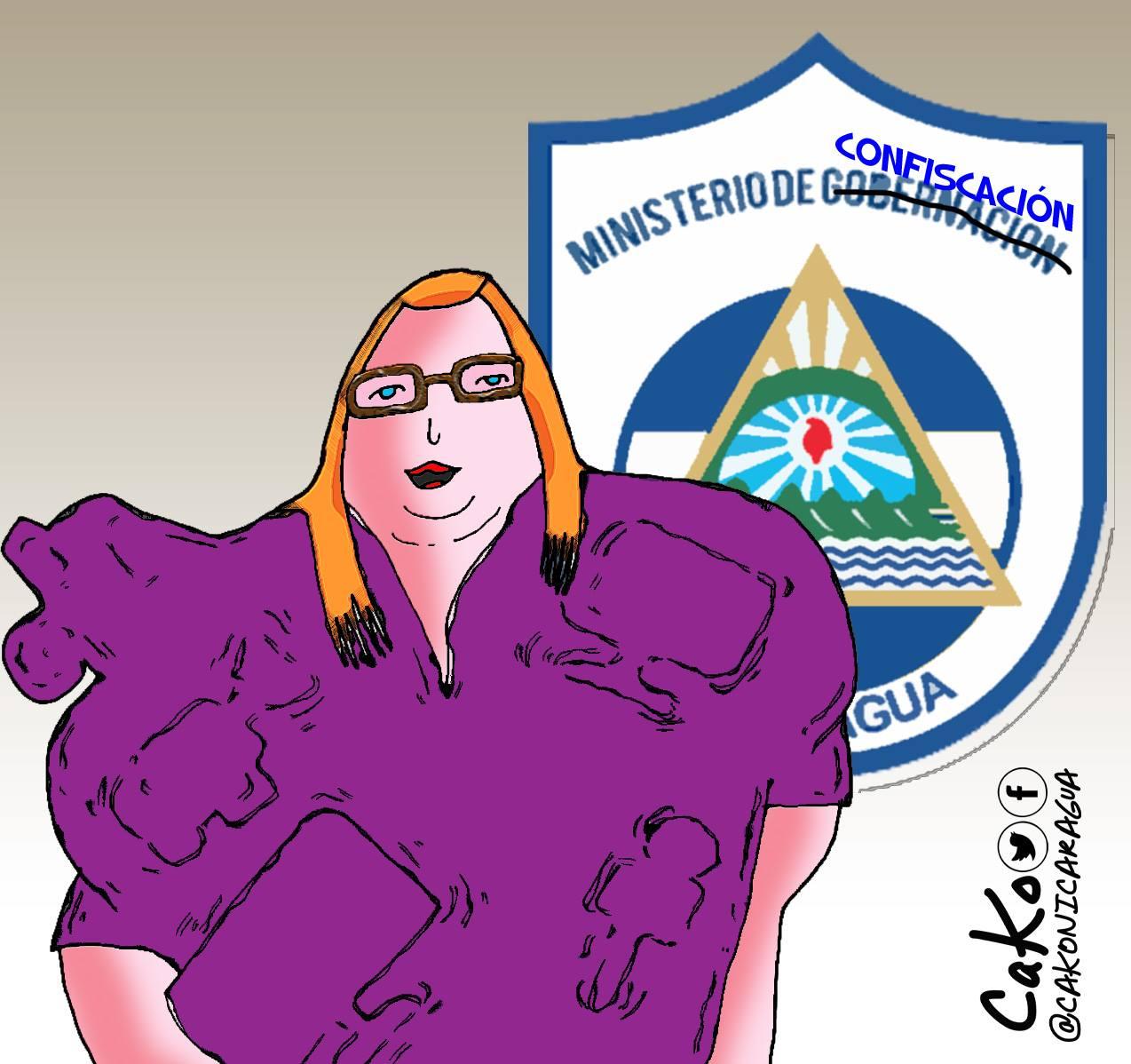 El Ministerio de Confiscación usado por la dictadura para robar. Caricatura: Cako