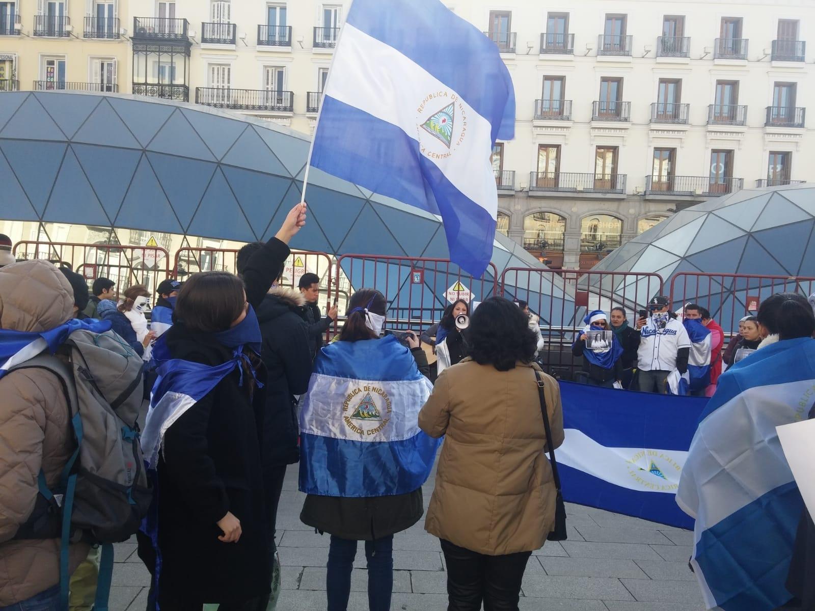 Nicaragüenses en Madrid boicotean concierto promovido por el régimen de Daniel Ortega. Foto ilustrativa/SOS Nicaragua Madrid