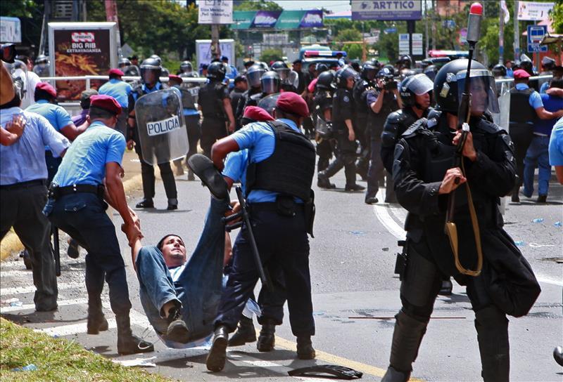 Represión en Nicaragua. Foto: web
