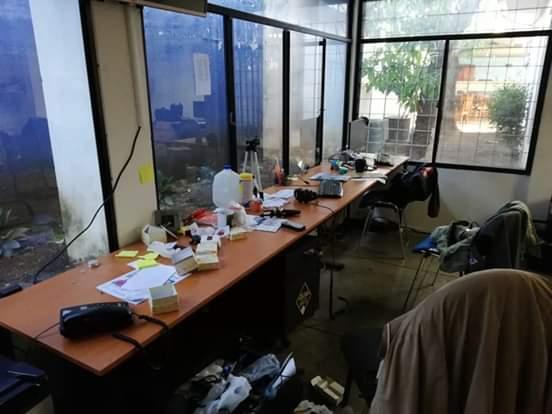 Asaltan oficinas de medios de comunicación propiedad de Carlos Fernando Chamorro. Foto: Cortesía