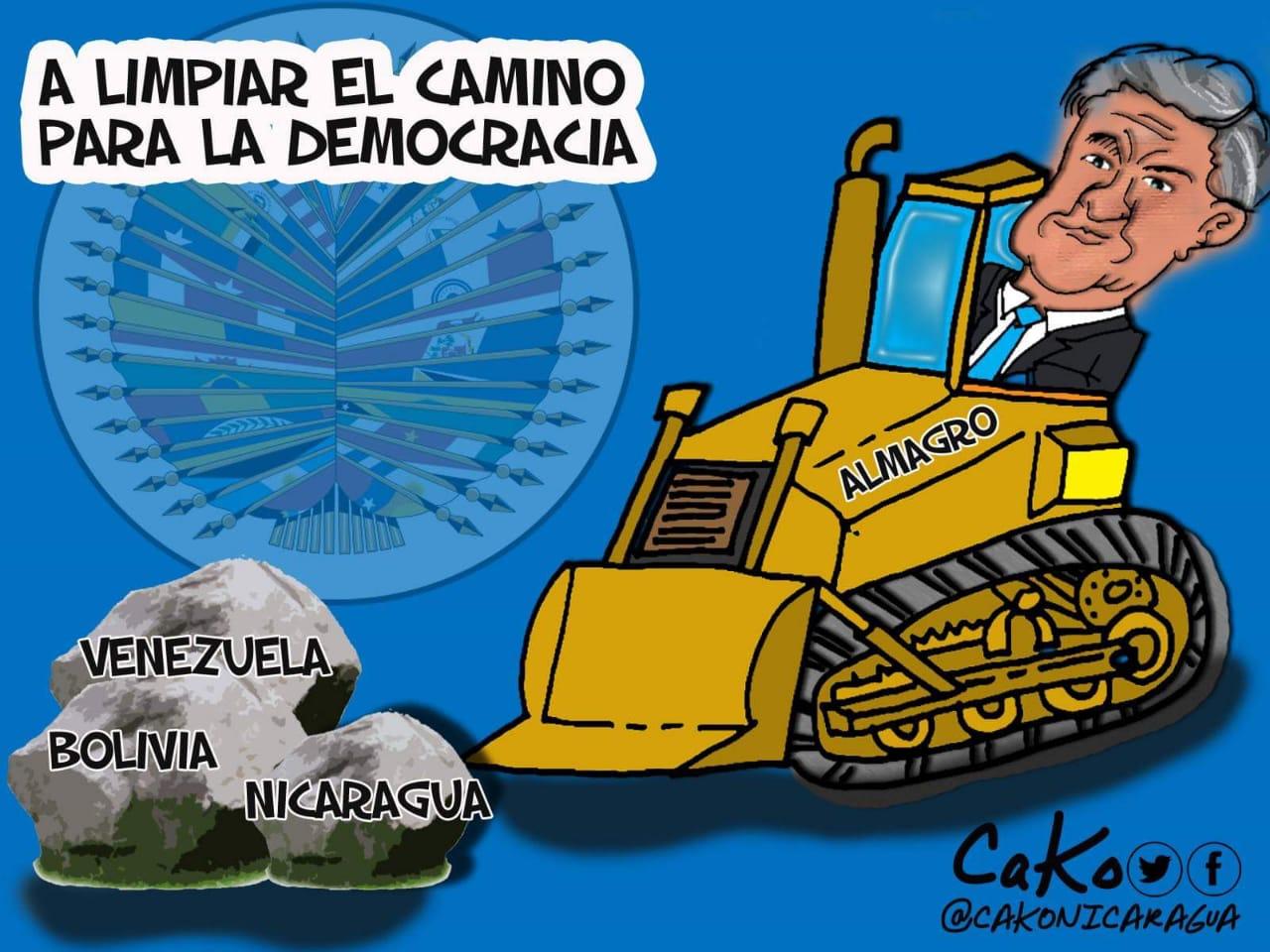 """Almagro, en """"operación limpieza"""". Caricatura: CaKo"""