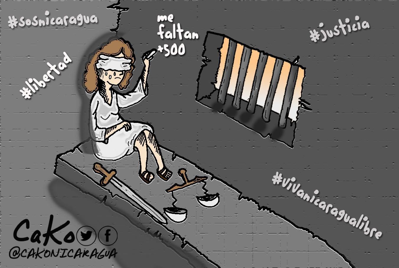 Tienen a la justicia encerrada junto a los más de 500 presos políticos. CaKo/Artículo66