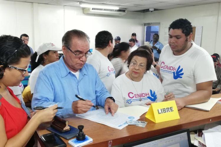 Cenidh rechaza confiscaciones ante el Ministerio de Gobernación. Foto archivo/LaPrensa
