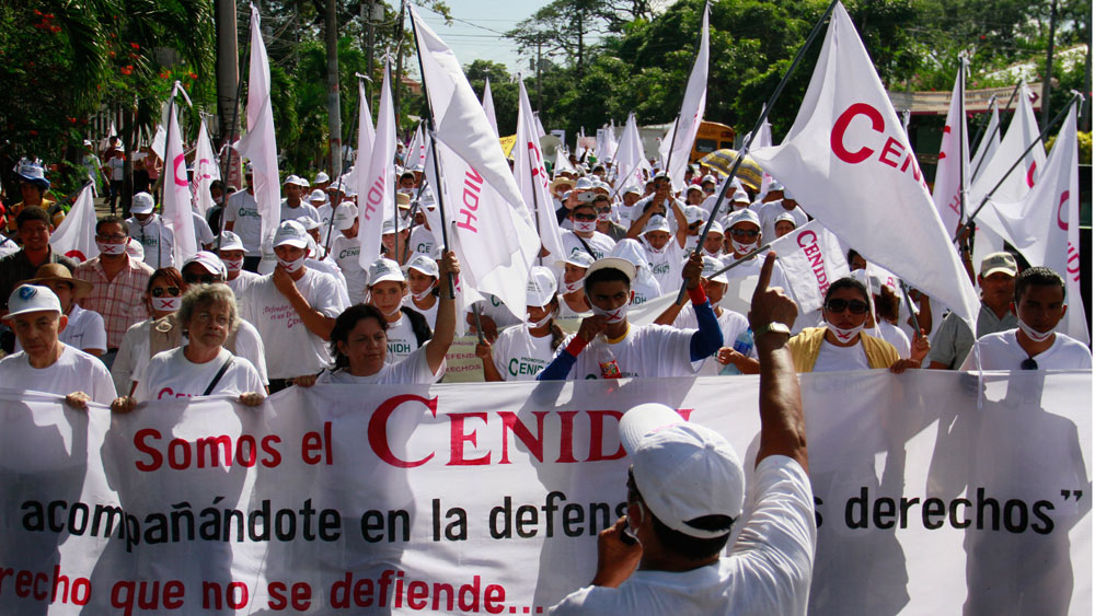 Cenidh solicita permiso a Policía orteguista para marchar. Foto: Cortesía