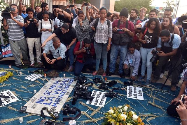 Reporteros Sin Fronteras: «Es un fin de año negro para los periodistas independientes en Nicaragua». Foto/AFP